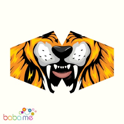 Reusable Fashion Face Mask - Tiger (Adult)