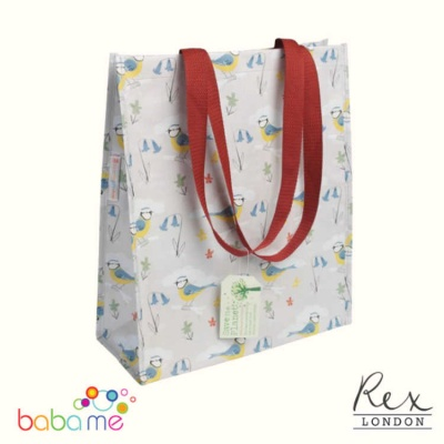 Rex London Blue Tit Design Shopping Bag