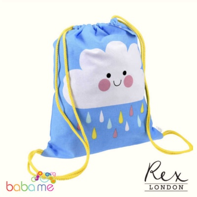 Rex London Happy Cloud Drawstring Bag