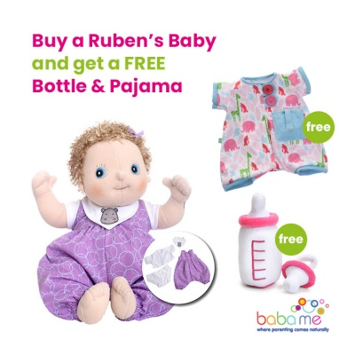 Rubens Baby Emma with FREE Bottle & Pajama Set