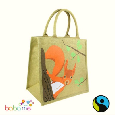 Shared Earth Jute Bag Red Squirrel