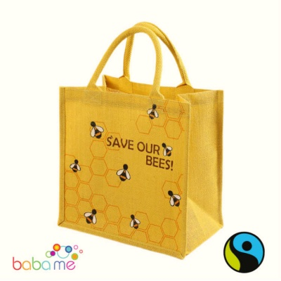 Shared Earth Jute Bag Sq Save Our Bees
