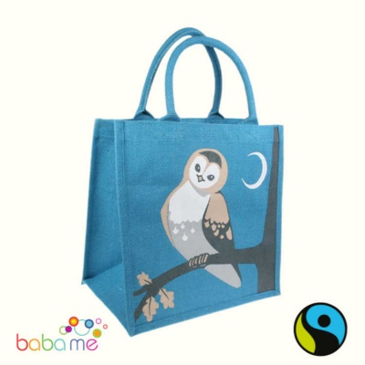 Shared Earth Jute Bags - Owl