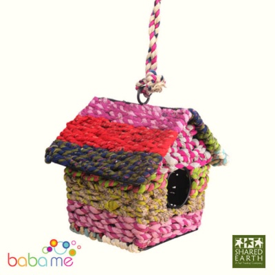 Shared Earth Recycled Fabric Bird House