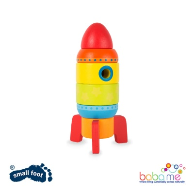 Small Foot Colourful Stacking Rocket