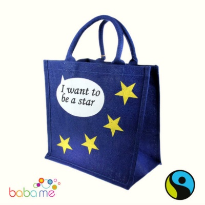Star Jute Shopping Bag