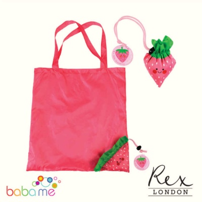Strawberry Foldaway Bag for Life