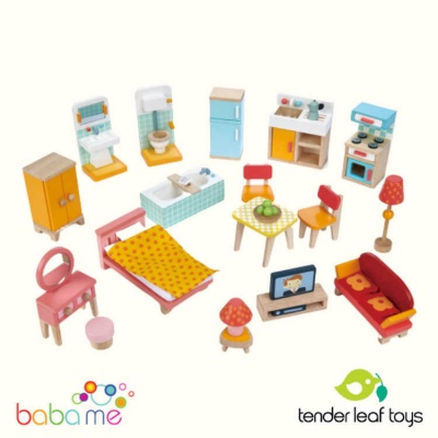 Tender Leaf Foxtail Villa Starter Dolls Furniture Set