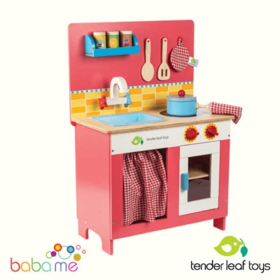 Tender Leaf Toys Cherry Pie Wooden Toy Kitchen