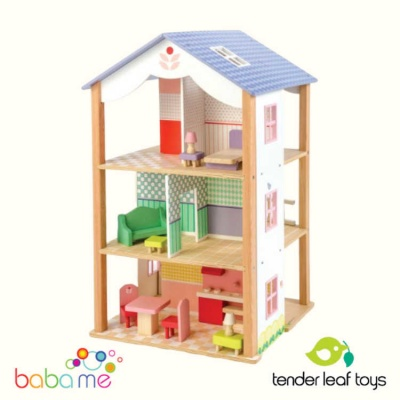Tender Leaf Toys Bluebird Villa Wooden Dolls House