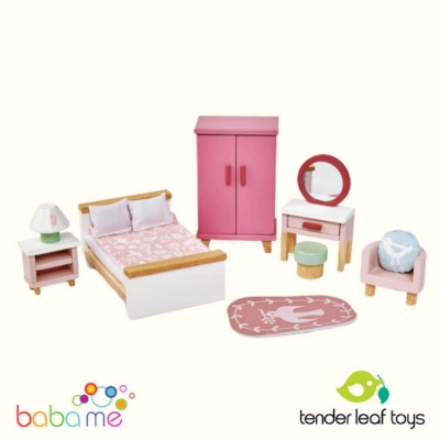 Tender Leaf Dovetail Dollhouse Bedroom Set