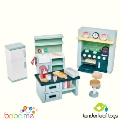 Tender Leaf Dovetail Dollhouse Kitchen Set