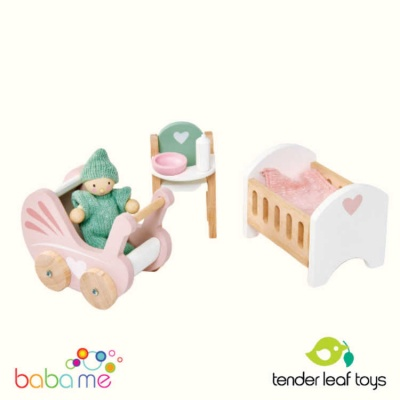 Tender Leaf Dovetail Dollhouse Nursery Set