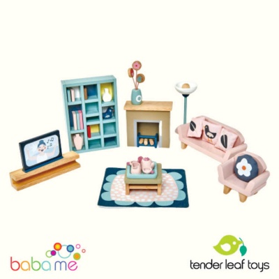 Tender Leaf Dovetail Dollhouse Sitting Room Set