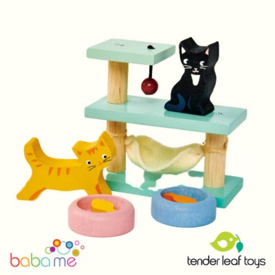 Tender Leaf Pet Cats Set