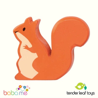 Tender Leaf Red Squirrel