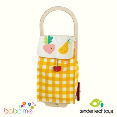 Tender Leaf Toys Shopping Trolley - yellow
