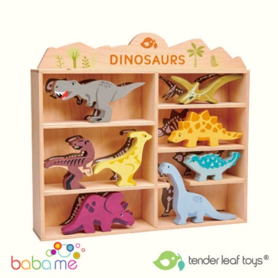 Tender Leaf Toys 8 Dinosaurs Shelf Set