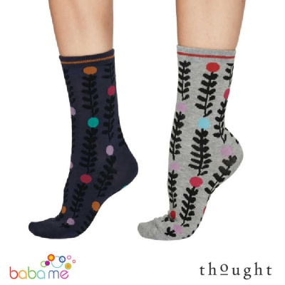 Thought Keira Abstract Floral Bamboo Socks