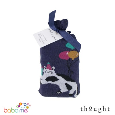Thought Lora Party Cat Bamboo Socks
