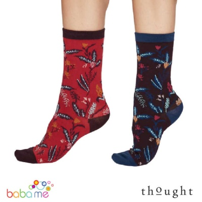Thought Margery Organic Cotton Flower Bamboo Socks