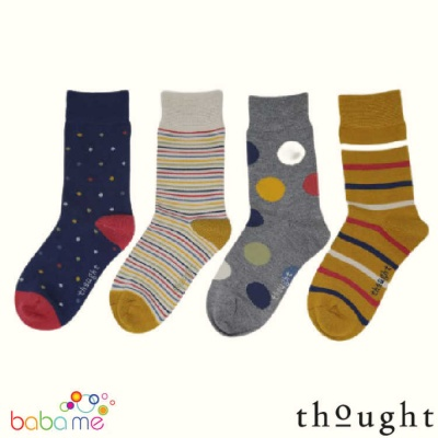 Thought Shay Organic 4 Pack Kids Socks Gift Box