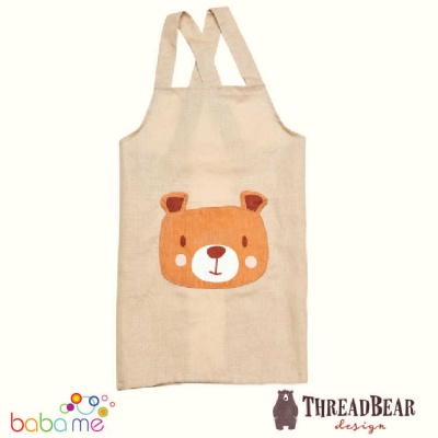 Threadbear Design Bear Linen Apron
