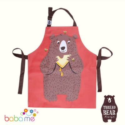 Threadbear Designs Fred The Bear Cotton Apron