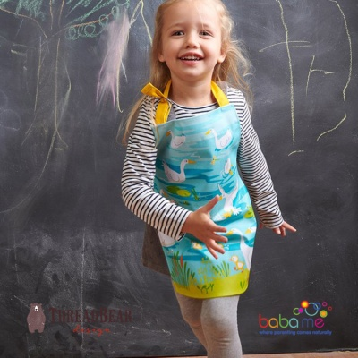 Threadbear Designs Gaggle of Geese Apron
