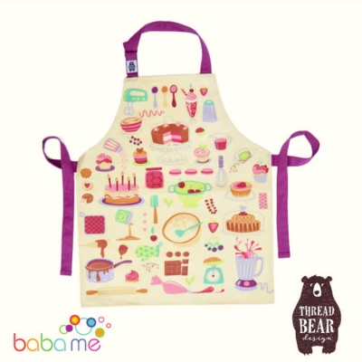 Threadbear Designs Let's Bake Cotton Apron