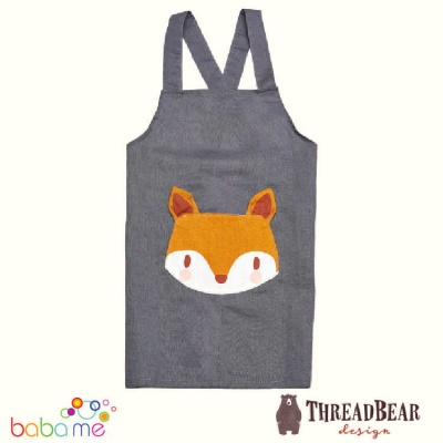 Threadbear Design Fox Linen Apron