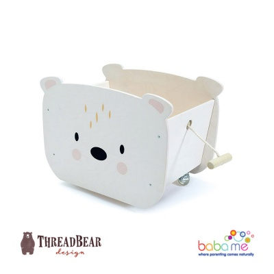 Threadbear Pull Along Bear Cart