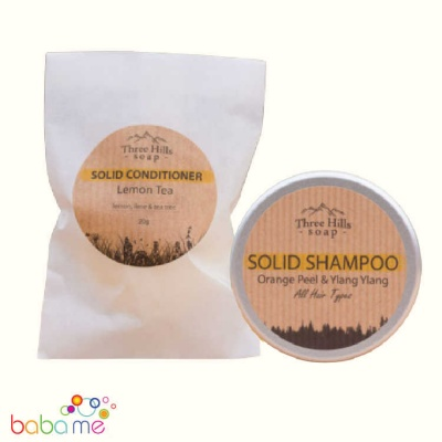 Three Hills Soap Shampoo and Conditioner bundle