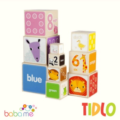 Tidlo Animal Stacking Cubes