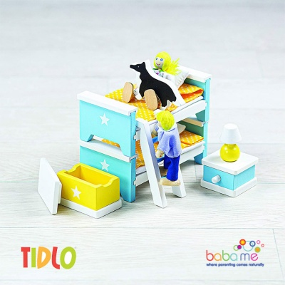 Tidlo Childrens Bedroom Doll Furniture