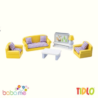 Tidlo Living Room Dollhouse Furniture