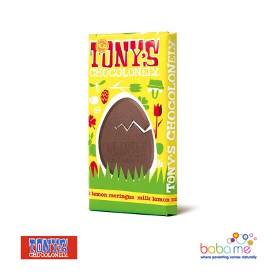 Tony's Chocolonely - Fairtrade Milk Chocolate Easter Bar with Meringue Lemon