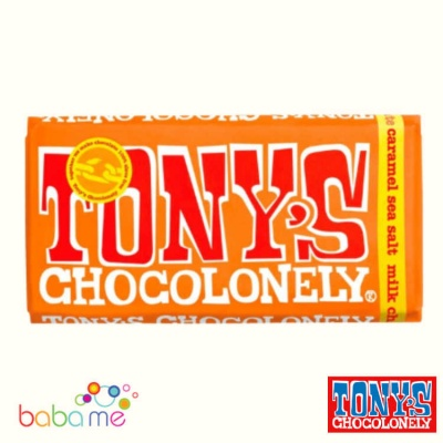 Tony's Chocolonely Milk Chocolate, Caramel & Sea Salt 180G