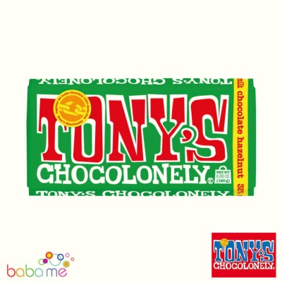 Tony's Chocolonely Milk Chocolate & Hazelnut 180g