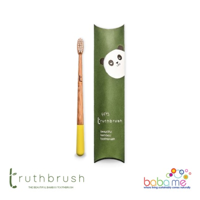Truthbrush Tiny Toothbrush - Sunshine Yellow - Soft Caster Oil Bristles
