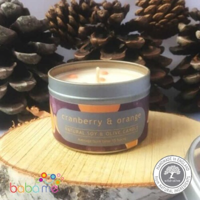 Wild Olive Cranberry and Orange candle