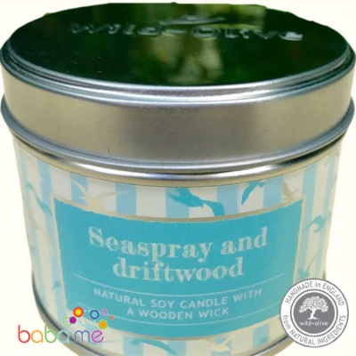 Wild Olive Candle Seaspray and Driftwood