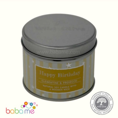 Wild Olive Happy Birthday Woodwick Soy Candle
