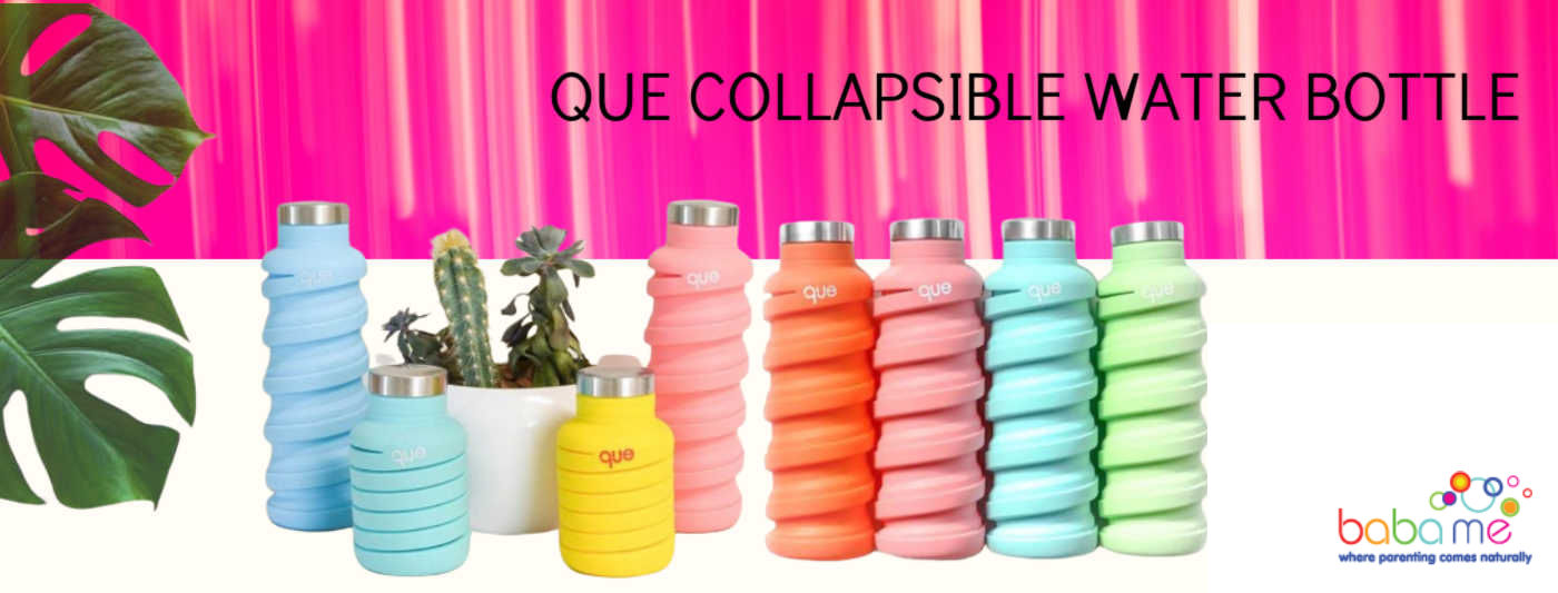 Que collapsible water bottle