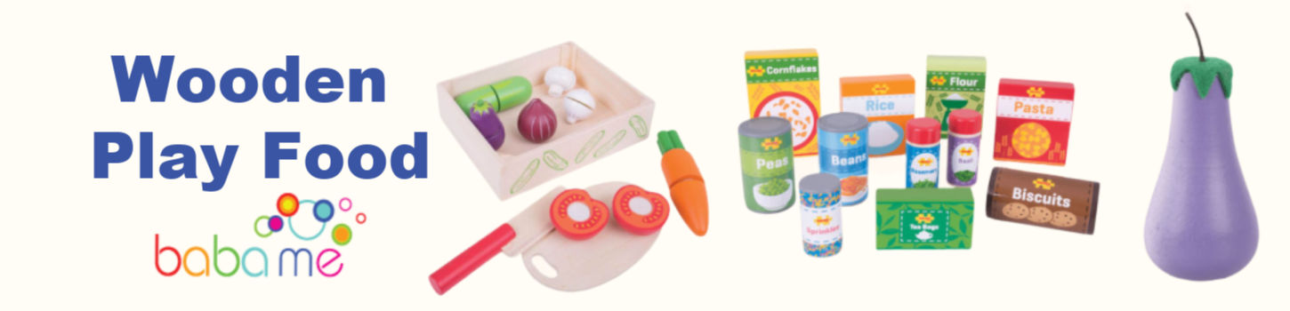 wooden play food